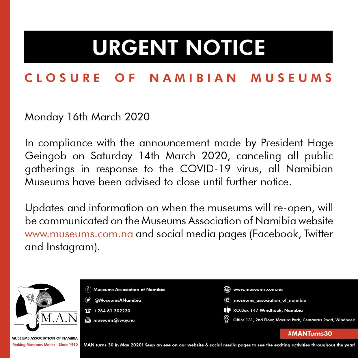 Namibian-Museums-Closed-COVID-19